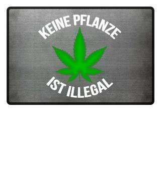 Marihuana Cannabis Fußmatte Geschenk