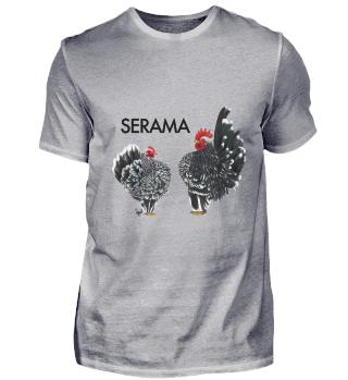 Serama black mottled, weißen Tupfen
