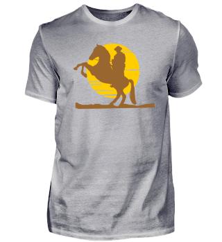 Cowboy Pferd Sonnenuntergang! Geschenk