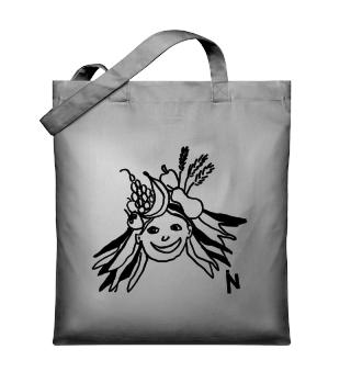 Girl with fruits - Organic Tote-bag
