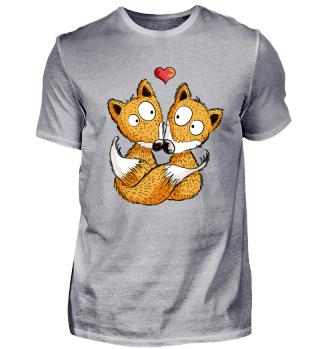 Verliebte Füchse I Fuchs Fox Comic