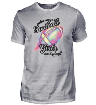Girl American Football daughter sport