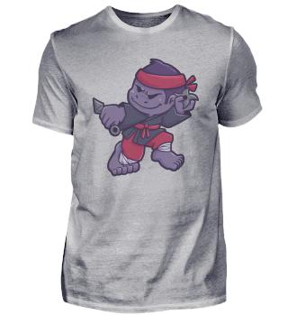 Gorilla Affe Ninja Samurai Geschenk