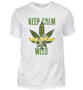 Keep Calm and smoke Weed tees Geschenk