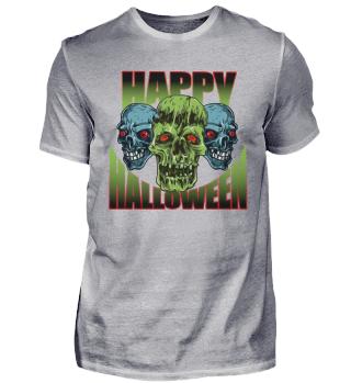 Happy Halloween Zombie Untoter Beißer