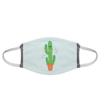 Gesichtsmaske Kaktus Comic Kawaii Maske