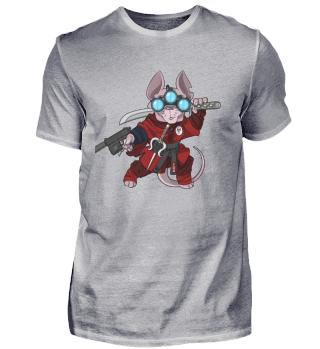 Ninja Red Sphynx Cat Assassin