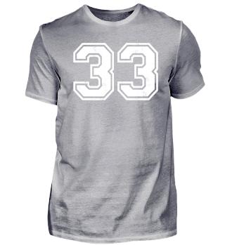 33 TRIKOT Jersey number Jersey Sport