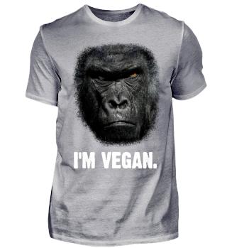 Scary Gorilla Shirt - I'm vegan