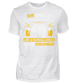 DRUNCLE LIKER UNCLE DRUNKER T SHIRT