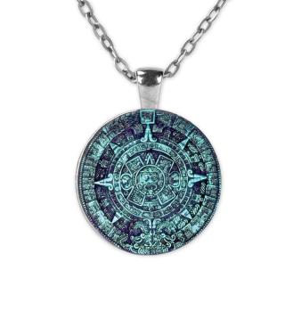 Kunstvoller Maya Kalender - türkis