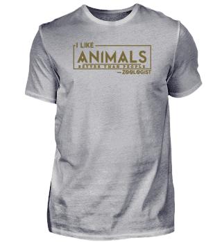 Ich mag Tiere mehr als Menschen braun