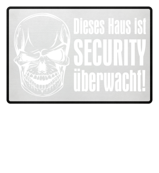 Skull SECURITY Haus - weiss