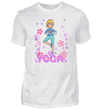Yoga meditation woman sport floral natur