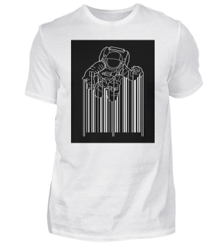 Barcode Astronaut In Space