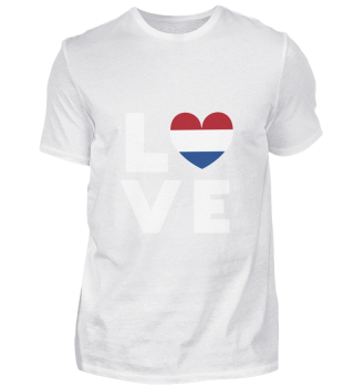 I love LOVE Holland Netherlands Flag Fla