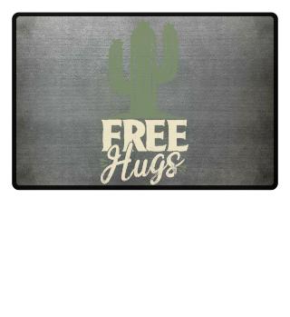 Free Hugs Umarmungen Kaktus Geschenk