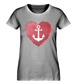 Maritimes Herz - Damen Bio Shirt