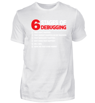 6 stages of debugging.