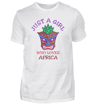 Just A Girl Who Loves Africa mask