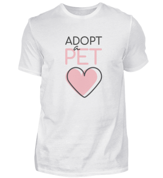 Adopt a Pet with Heart Black