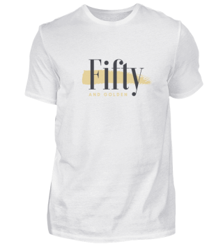 Fifty and Golden Herren T-Shirt Basic