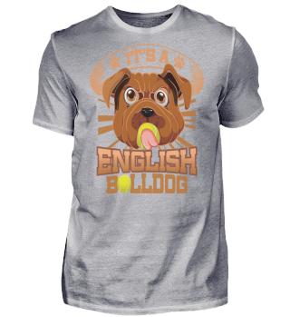 English Bulldog with ball Bulldogge