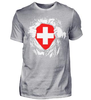 Schweiz Superheld Held Schweizerkreuz