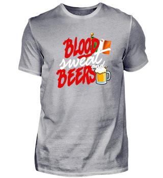 Blood Sweat Beers Shirt Design