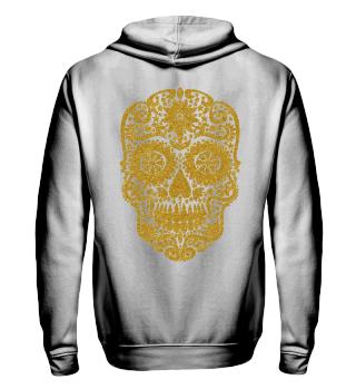 Gothic Stars Sugar Skull - gold