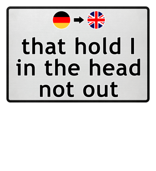 Wortwörtlich Deutsch Englisch - head