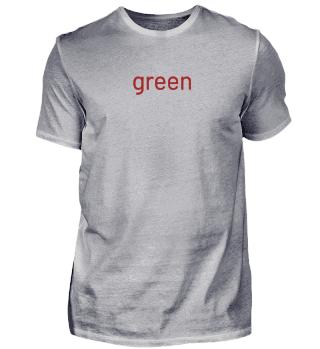 green - red T-shirt - Geschenkidee