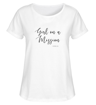 SHIRT GIRL ON A MISSION WHITE
