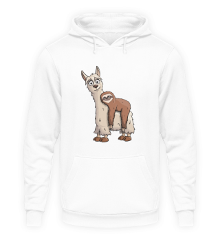 Sloth Riding LLama Faultier reitet Lama