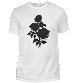 T-shirt with watercolor Black roses