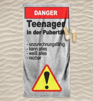 Badetuch Teenager in der Pubertät