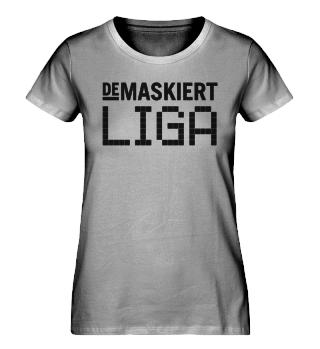 Liga T-Shirt Damen, Logo schwarz