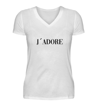J`adore Shirt Design Statement