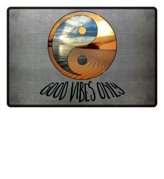 yin yang - good vibes only - schwarz