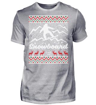 Ugly Christmas Snowboard Shirt