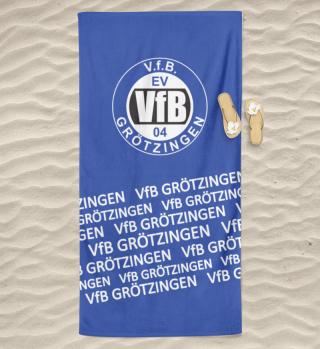 Schrift - Handtuch / Badetuch / Decken - V.f.B. Grötzingen