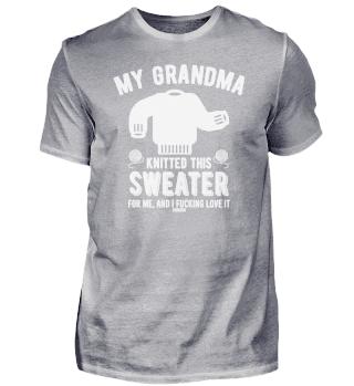 Stricken Wolle Spruch Oma