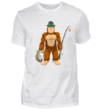 Bigfoot Goes Bass Fishing