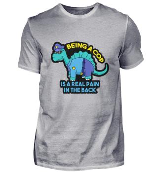 Polizei Dinosaurier Schmerz Rücken