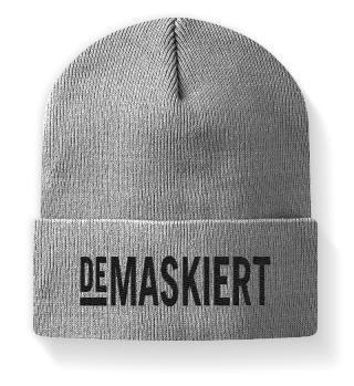 Original Demaskiert Mütze, Logo schwarz