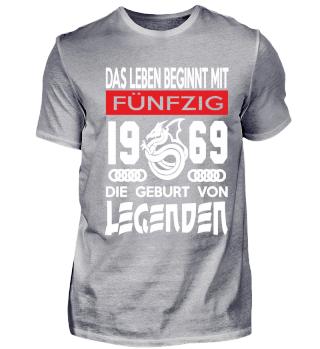50. Geburtstag T-Shirt 1969 Legenden