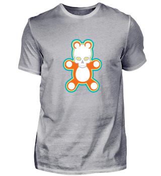 Orange and white Skull Panda Gift
