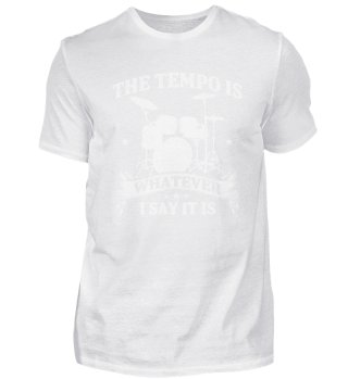 Drummer sets the tempo