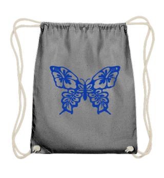 Hibiscus Butterfly zum Ausmalen - blau