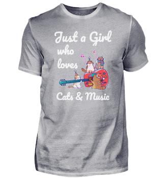 Cat Music Guitar Girls